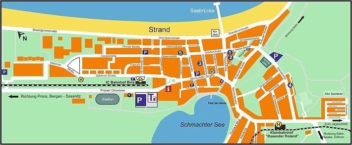 Ort- und Lageplan Ferienwohnung Binz