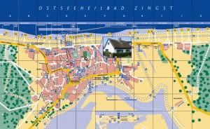 Ort- und Lageplan Ferienhaus Zingst
