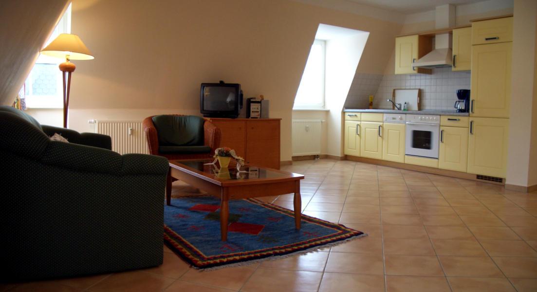 Küche in der Ferienwohnung Binz